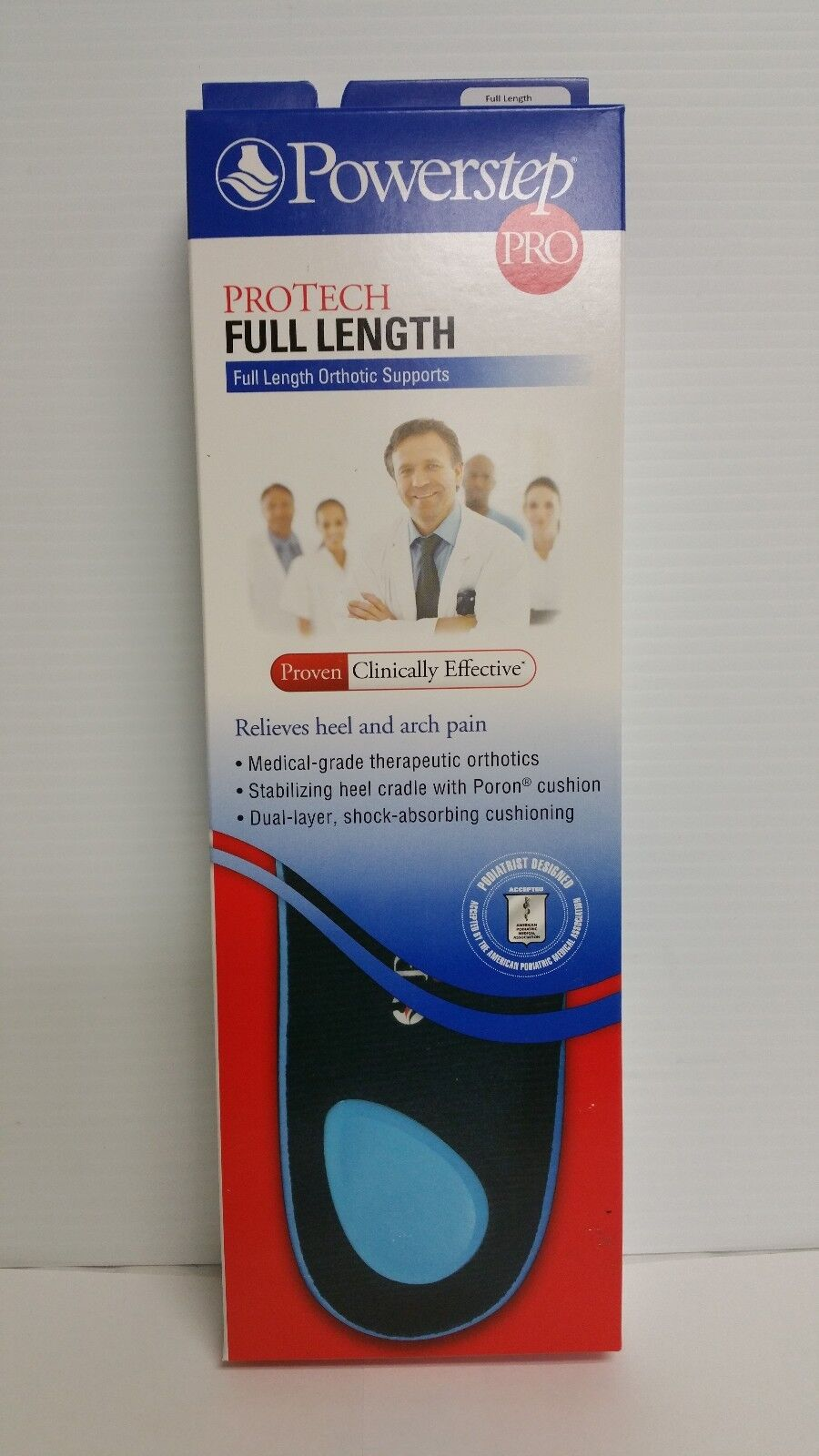 PowerStep Protech Full Length Orthotic Insole Shoe Insert...