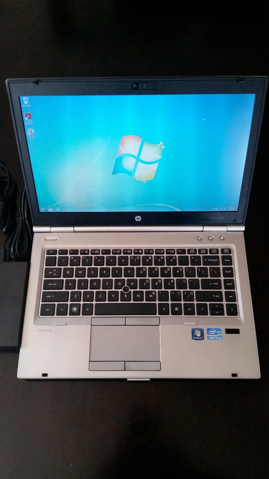 Laptop Windows - HP 8470p LAPTOP WINDOWS 7 PRO CORE-i5 8GB 320GB CDRW/DVD WIFI WEBCAM NOTEBOOK PC