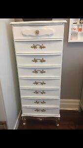 Selling French provincial lingerie chest and night stand