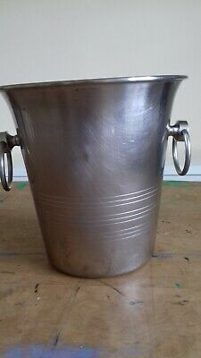 French Champagne Bucket Guy Degrenne - Paris - Stainless Steel Vintage kitchen