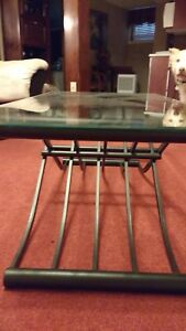 Beveled glass rectangle coffee table