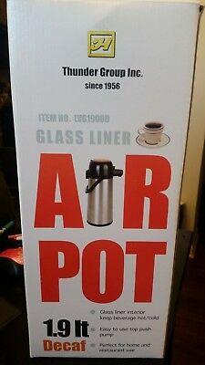 Nib Air Pot 1.9 Liter Glass Liner Coffee Beverage Dispenser Thunder Group Inc