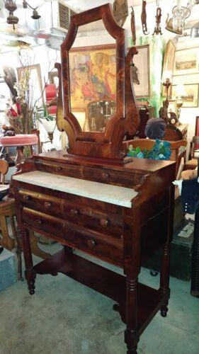 Antique Mahogany Foyer Vanity Table Dresser * Entry Hall * 1800