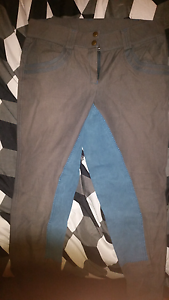 Horse Riding Breeches - grey/blue full seat Greensborough Banyule Area Preview
