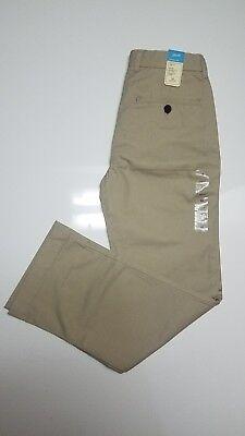 NEW GapKids Boys Classic Mid rise adjustable waist Khakis sz 10 reg Uniform pant