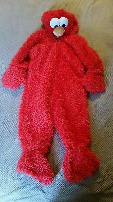 Sesame street workshop Elmo child costume childrens toddler 2-4 euc dress up ](Elmo Costume Kids)