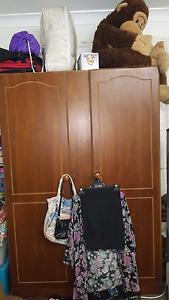 Brown two door wardrobe Tweed Heads Tweed Heads Area Preview