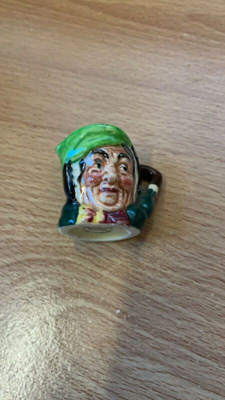 """Sairey Gamp, Miniature  1.25"""" Vintage Royal Doulton Character Mug"""