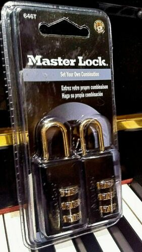 Master Lock 646T Set-Your-Own Combination Luggage Lock, 11/16-inch, 2-Pack New