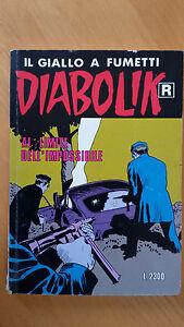 DIABOLIK R n. 429 Al limite dell'impossibile Prima ristampa 1997 Buono - Italia - L'oggetto può essere restituito se non è quello della/delle foto e previo assenso del venditore - Italia