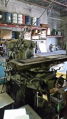 Browne Sharpe Horizontal Milling Machine 3 Phase Good Working Order