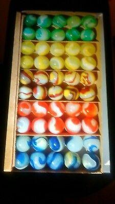Vintage Akro Agate Marbles