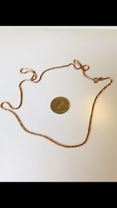 """10k  stamped Rose Gold 18"""" long Chain"""