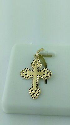 10K Gold Italian Cross