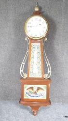 Antique Rare  Tiffany Waltham Banjo Clock