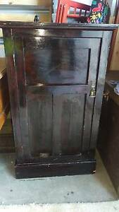 ANTIQUE Solid Timber CUPBOARD  Dark  GLOSS Melrose Park Mitcham Area Preview