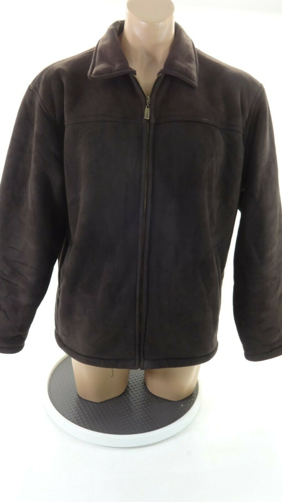 Whispering Smith HOMME Daim Marron Zip Frontal Décontracté