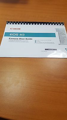 CANON EOS M3 FULL USER MANUAL GUIDE INSTRUCTIONS PRINTED 201 PAGES A5