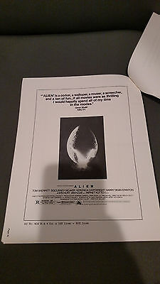 Alien Original 1979 Movie Pressbook Ridley Scott Sci-Fi Horror Fox 45 Pages
