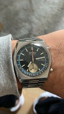 RARE! Vintage 1970s Automatic Seiko Chronograph 6139-7080 Hexagon Watch