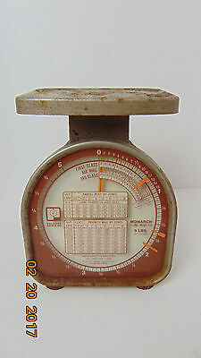 Vintage Working Pelouze Model Monarch Y-line Y-5 Postal Scale Up To 5 Lb