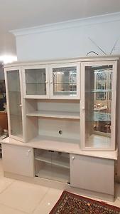 TV cabinet unit with glass shelves Parklea Blacktown Area Preview