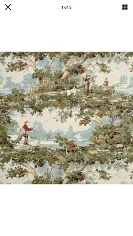 Avondale Vintage Sportsman Toile Fabric
