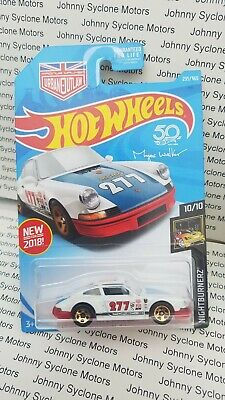 HOT WHEELS 1971 PORSCHE 911 COUPE NIGHTBURNERZ WHITE/RED 10/10 URBAN OUTLAW