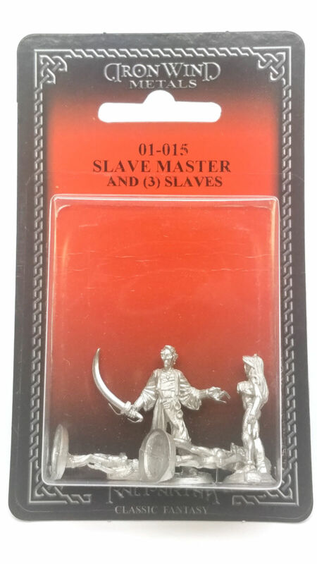 Ral Partha Slave Master and Three Slaves #01-015 Unpainted Fantasy Metal Figure