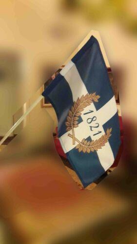 GREECE 200 years GREEK REVOLUTION 1821 HAND FLAG HELLAS KOLOKOTRONIS