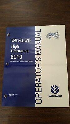 New Holland 8010 Tractor Operators Manual. Part 86579558.