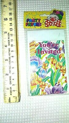 Party Favors 4-pack of 5 Floral Party Invitations w Envelopes 20 total cheap - Cheap Party Invitations