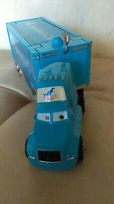 Disney Pixar Cars Diecast Rare The King Dinoco Semi Cab & Cal Weather's Hauler