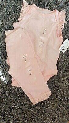 Gap baby girl vest & leggins, 0-3 months, New