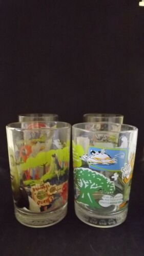 Set of 4 Disney/Pixar/Dreamworks Glass Cups McDonald
