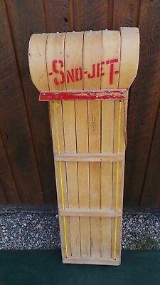 "VINTAGE Wooden Snow Toboggan Sled GREAT FOR Hang up for Decor 47"" long"