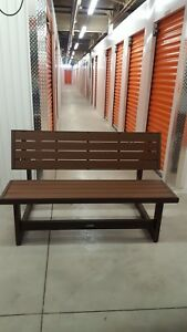 Faux wood convertible Bench
