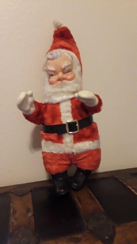 Vintage stuffed santa claus