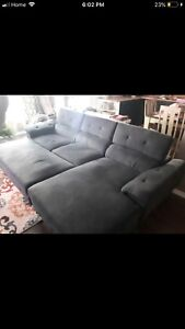 COUCH WITH OTTOMAN NEED GONE ASAP