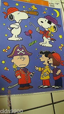 Peanuts Gang Snoopy Halloween Window Cling Decoration Reusable Vinyl CLings New](Halloween Vinyl Clings)