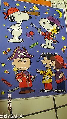 Peanuts Gang Snoopy Halloween Window Cling Decoration Reusable Vinyl CLings New](Halloween Vinyl Clings)