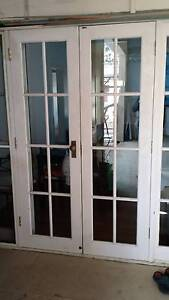 2 sets of French doors with frame and double hung windows Artarmon Willoughby Area Preview