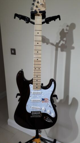 SX Electric Guitar 8666MBR Transparent Mahogany Strat Style
