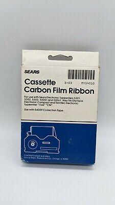 Sears 3-54010 Black Cassette Carbon Film Ribbon 53015302530353051olympia