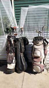 Golf Clubs irons and woods 3 bags West Wodonga Wodonga Area Preview
