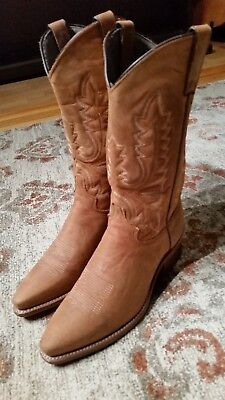 ABILENE SOFT TAN LEATHER SNIP TOE COWGIRL BOOTS #61589 WOMEN