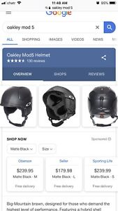Oakley MOD5 helmet and goggle combo