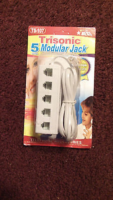 5 Way Telephone Phone Jack Line Plug Outlet Socket Splitter Adapter FAST SHIP