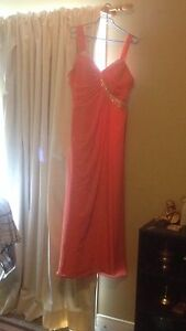 Coral Wedding Dress, Size Large