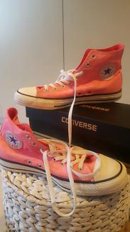 Converse Hi Tops Neon Pink Unisex Womens 11 Mens 9